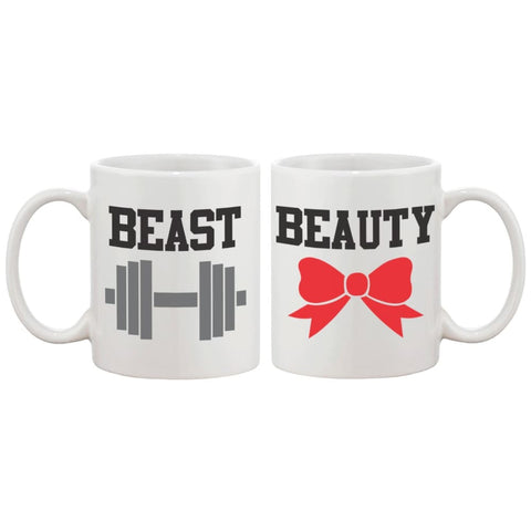 Beauty and Beast Matching Coffee Mugs -His and Hers Couple Coffee Mug Cup - Apparel & Accessories