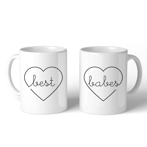 Best Babes BFF Matching White Mugs - Apparel & Accessories