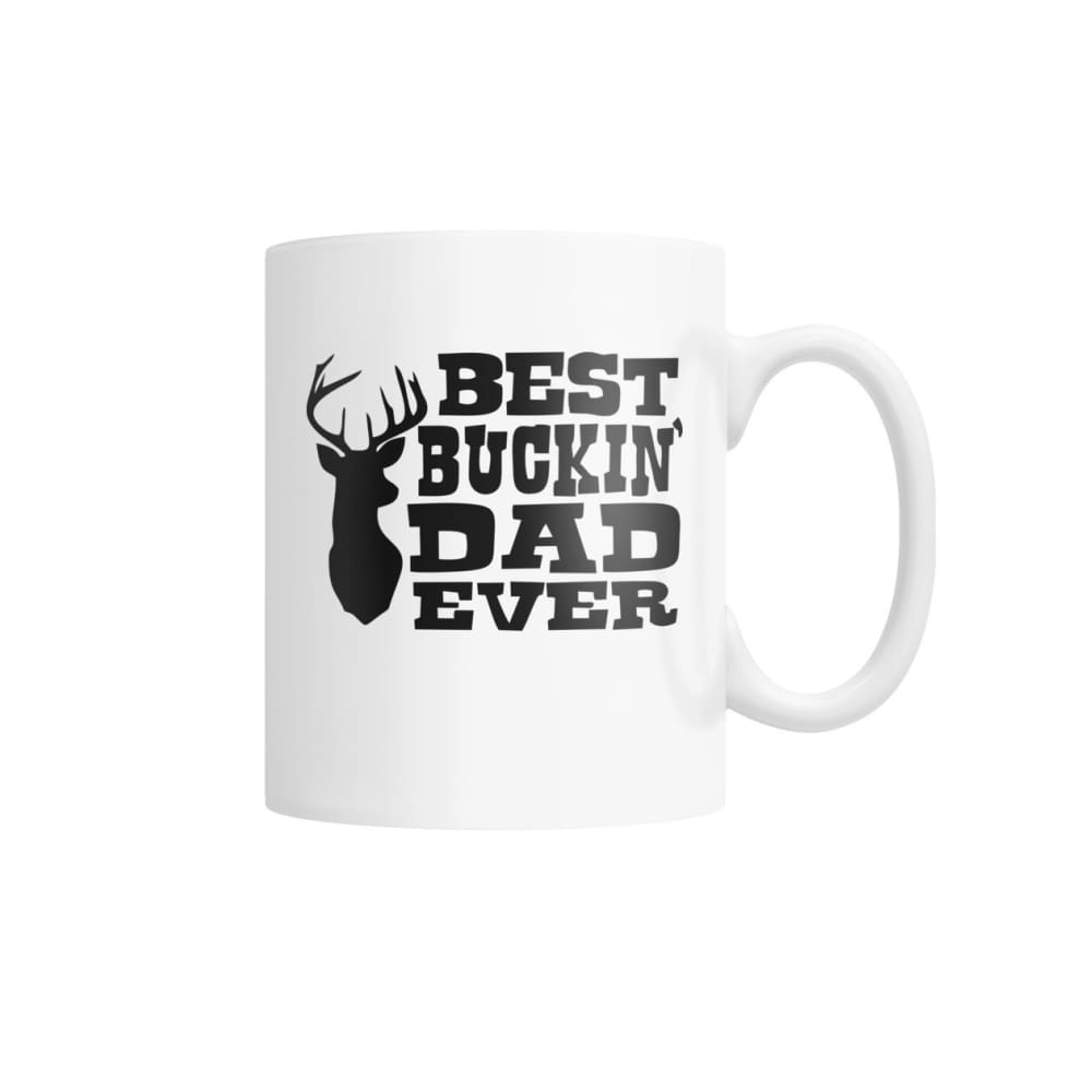 Best Bucking Dad White Coffee Mug - Drinkware