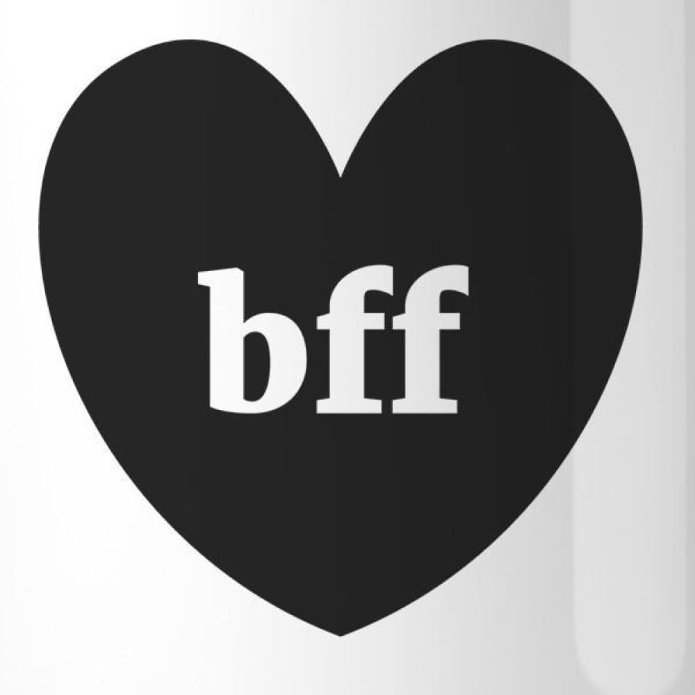 Bff Hearts BFF Matching White Mugs - Apparel & Accessories