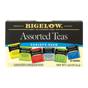 Bigelow Tea Assorted Tea - 6 Variety - Case Of 6 - 18 Bag - Eco-Friendly Home & Grocery