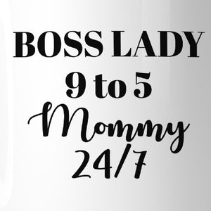 Boss Lady Mommy Funny Coffee Mug Humorous Gift Idea For Bossy Moms