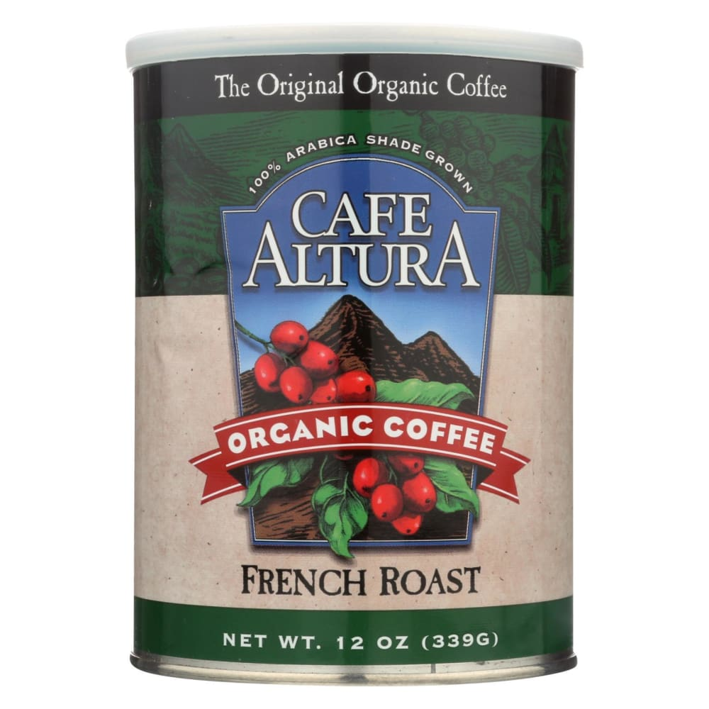 Cafe Altura Organic Ground Coffee - French Roast - Case Of 6 - 12 Oz. - Eco-Friendly Home & Grocery