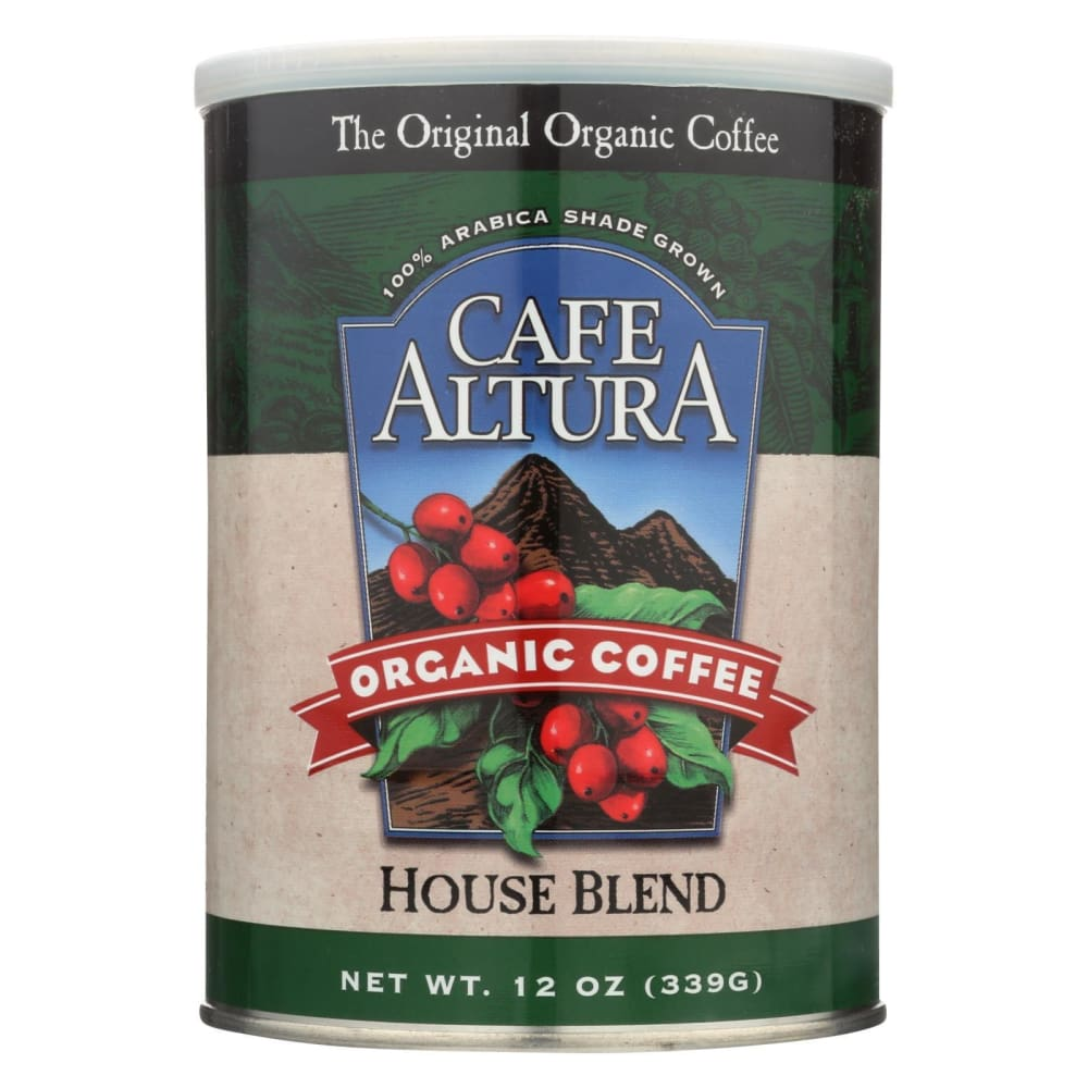 Cafe Altura Organic Ground Coffee - House Blend - Case Of 6 - 12 Oz. - Eco-Friendly Home & Grocery