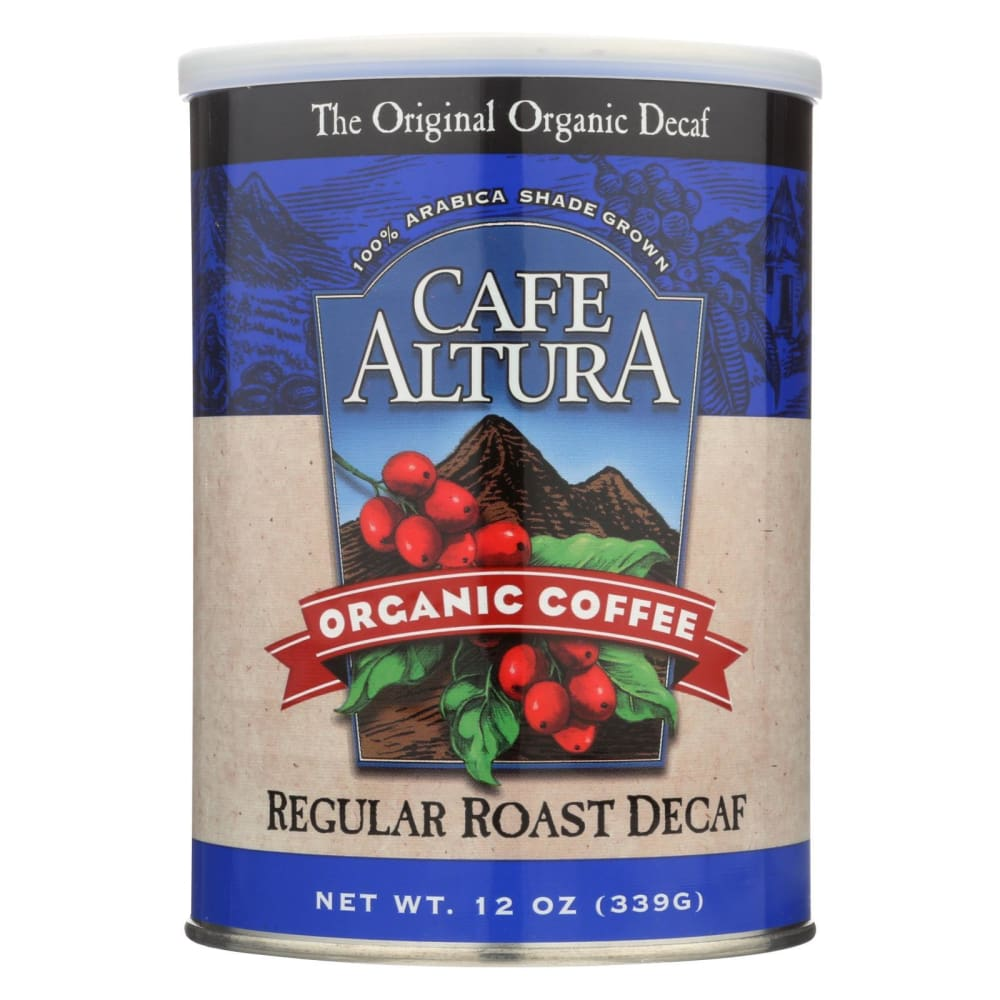 Cafe Altura Organic Regular Roast Ground Coffee - Decaf - Case Of 6 - 12 Oz - Eco-Friendly Home & Grocery