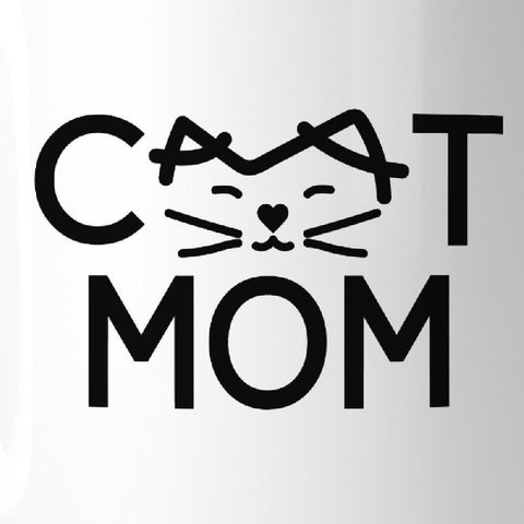 Image of Cat Mom Microwave Safe Ceramic Mugs Cute Gift Ideas For Cat Lovers - Apparel & Accessories