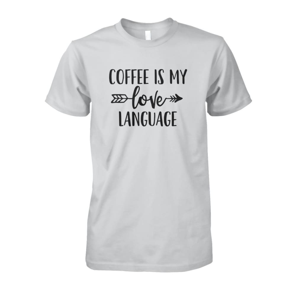 Coffee Is My Love Language Tee - Ash Grey / S / Unisex Cotton Tee - Short Sleeves