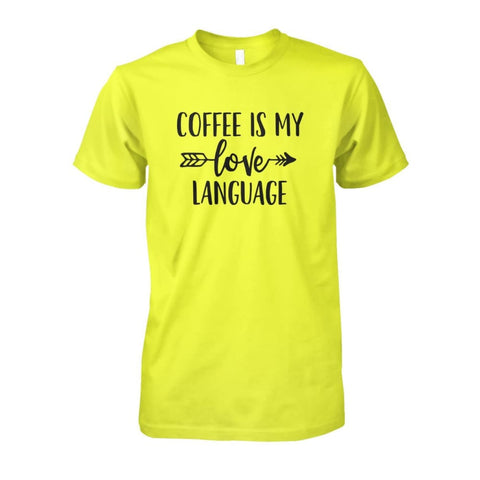 Image of Coffee Is My Love Language Tee - Daisy / S / Unisex Cotton Tee - Short Sleeves