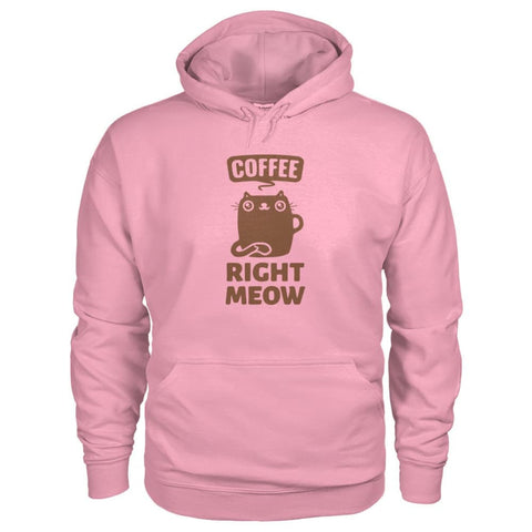 Coffee Right Meow Hoodie - Classic Pink / S - Hoodies