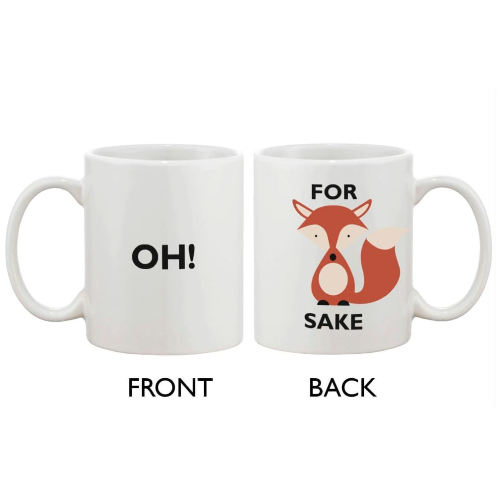 Cute Funny Ceramic Coffee Mug - Oh! For Fox Sake 11oz Coffee Mug Cup - Apparel & Accessories