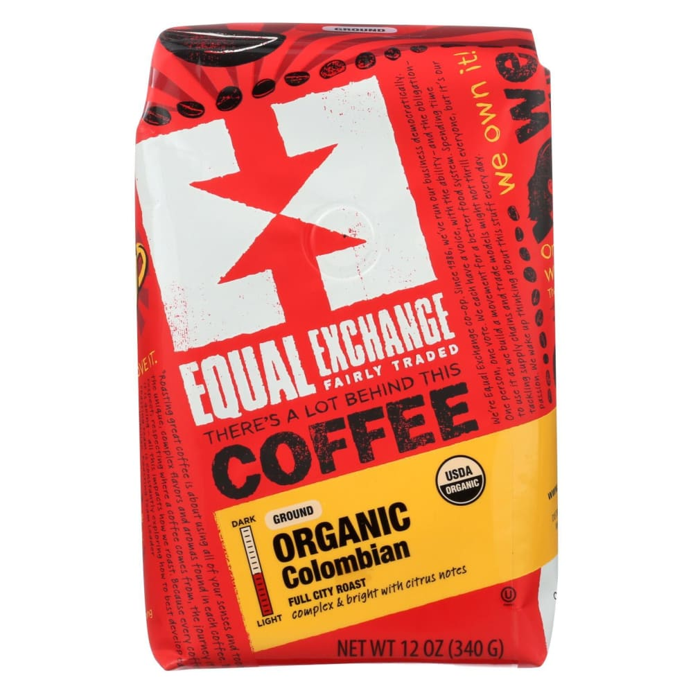 Equal Exchange Organic Drip Coffee - Colombian - Case Of 6 - 12 Oz. - Eco-Friendly Home & Grocery
