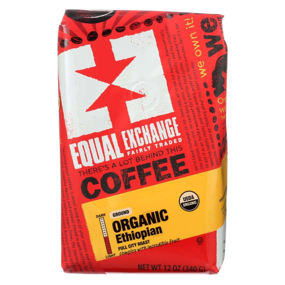 Equal Exchange Organic Drip Coffee - Ethiopian - Case Of 6 - 12 Oz. - Eco-Friendly Home & Grocery