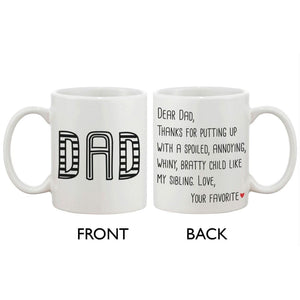 Fathers Day Mug for Dad - From Your Favorite Child Mug Gift for Father - Apparel & Accessories