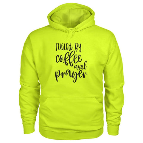 Image of Fueled By Coffee & Prayer Hoodie - Safety Green / S - Hoodies