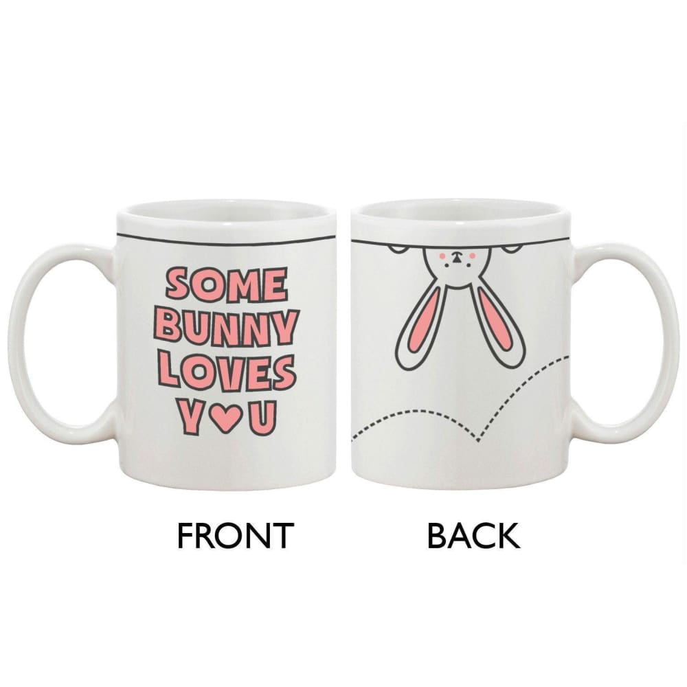 Funny and Cute Ceramic Coffee Mug - Some Bunny Loves You 11oz Coffee Cup - Apparel & Accessories