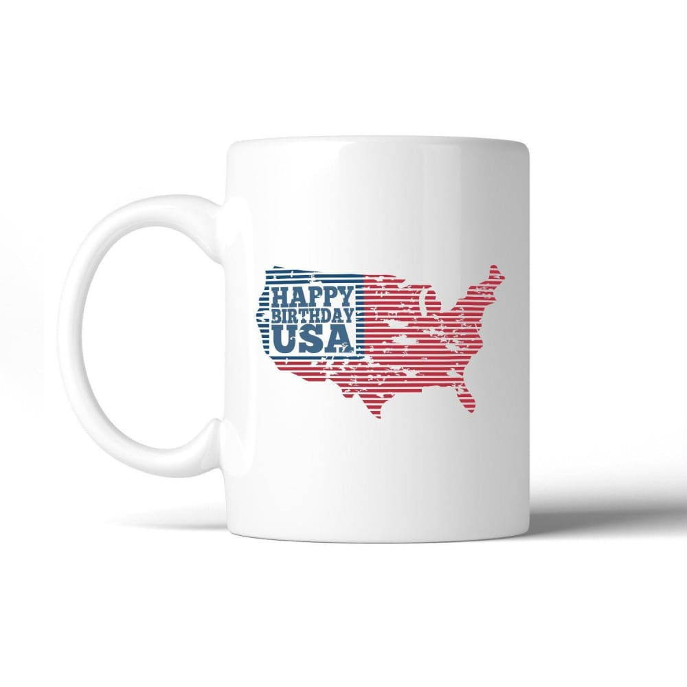 Happy Birthday USA Independence Day Mug Unique Patriotic Gift Idea - Apparel & Accessories