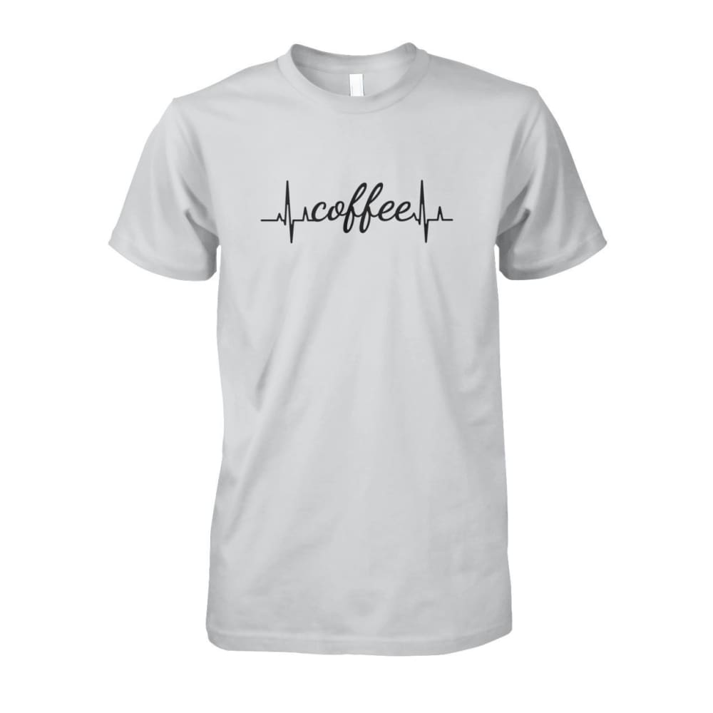 Heart Beat Coffee Tee - Ash Grey / S - Short Sleeves
