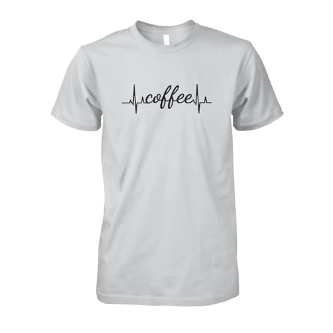Image of Heart Beat Coffee Tee - Ash Grey / S - Short Sleeves