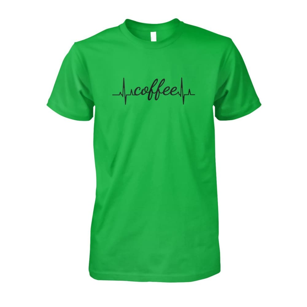 Heart Beat Coffee Tee - Electric Green / S - Short Sleeves