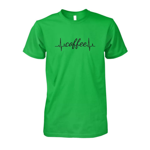 Image of Heart Beat Coffee Tee - Electric Green / S - Short Sleeves