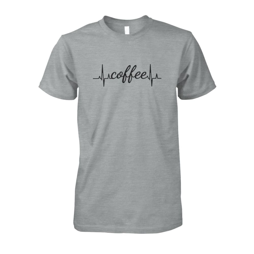 Heart Beat Coffee Tee - Sport Grey / S - Short Sleeves