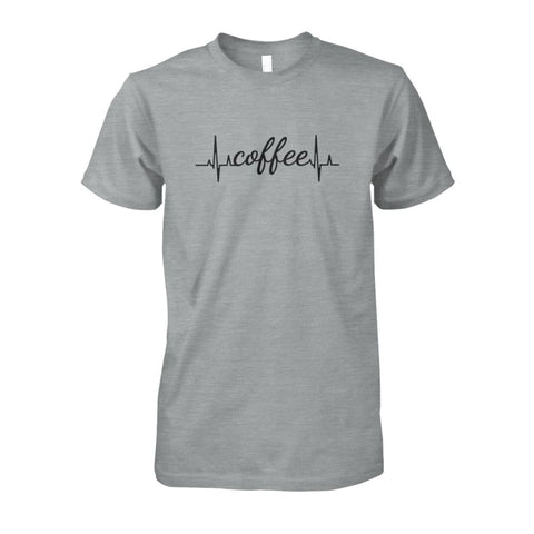 Image of Heart Beat Coffee Tee - Sport Grey / S - Short Sleeves