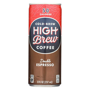 High Brew Coffee Coffee - Ready To Drink - Double Espresso - 8 Oz - Case Of 12 - Eco-Friendly Home & Grocery