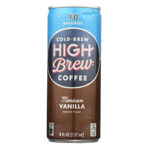 Image of High Brew Coffee Coffee - Ready To Drink - Mexican Vanilla - 8 Oz - Case Of 12 - Eco-Friendly Home & Grocery