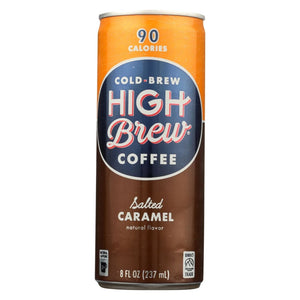 High Brew Coffee Coffee - Ready To Drink - Salted Caramel - 8 Oz - Case Of 12 - Eco-Friendly Home & Grocery