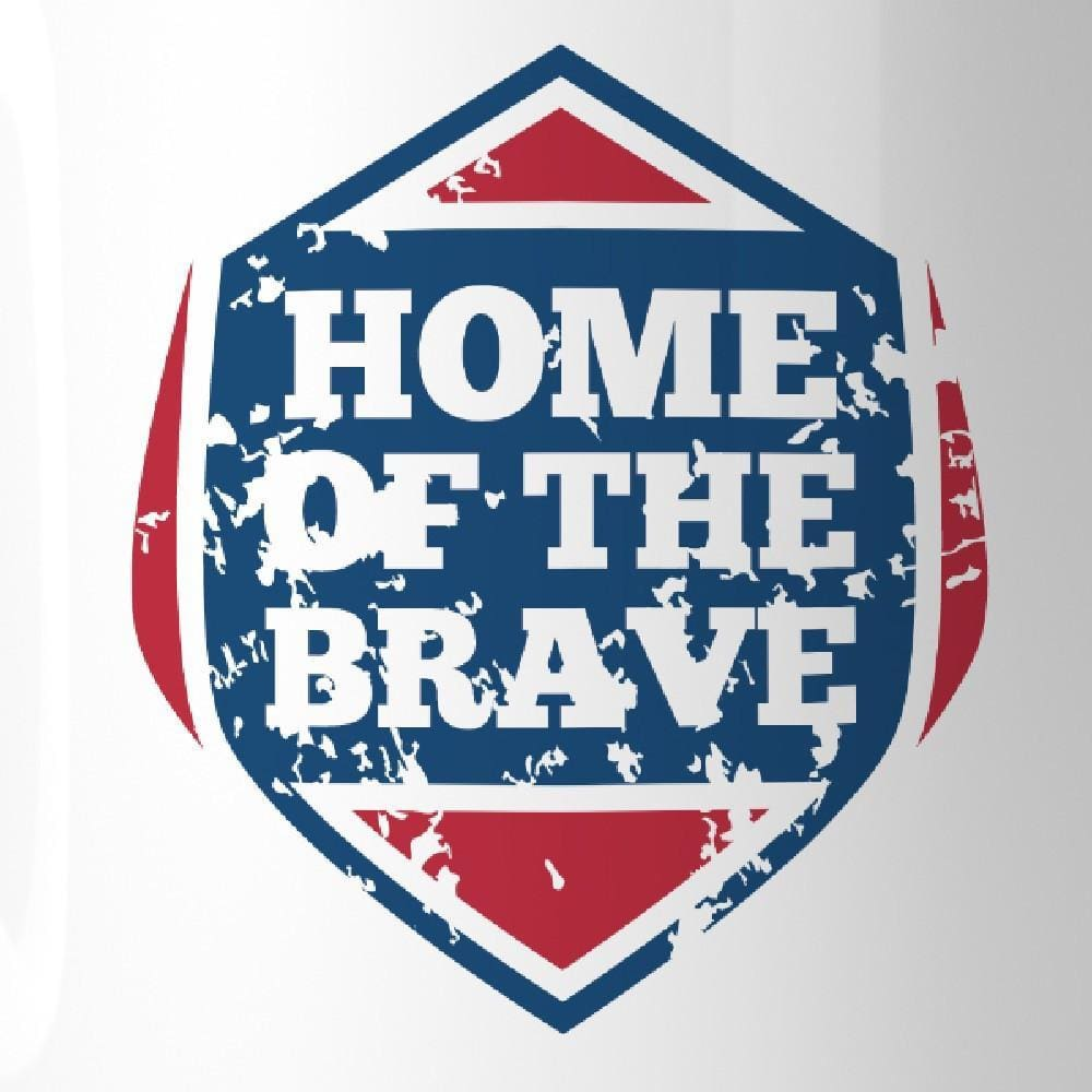 Home Of The Brave Unique Design Graphic Mug White Microwave Safe - Apparel & Accessories