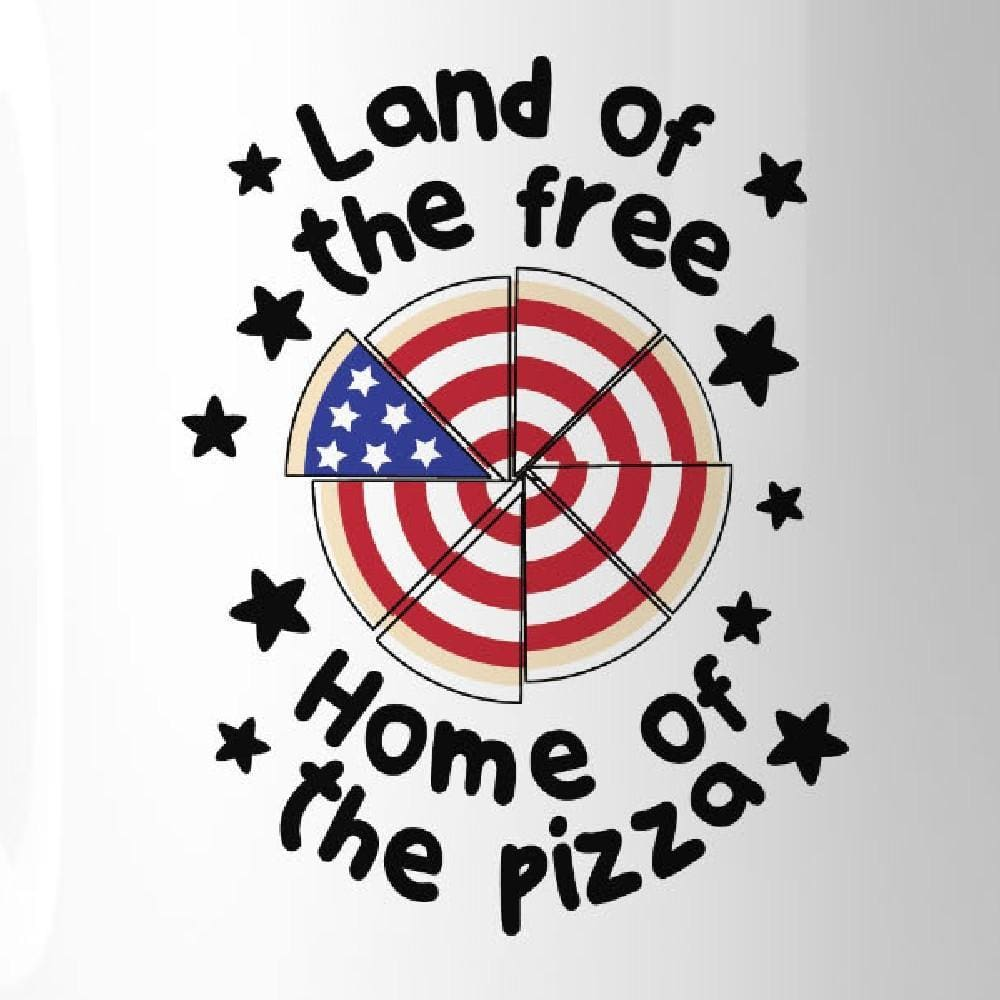 Home Of The Pizza Funny Patriotic Gift Coffee Mug For Pizza Lovers - Apparel & Accessories