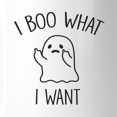 Image of I Boo What I Want Ghost White Mug - Apparel & Accessories
