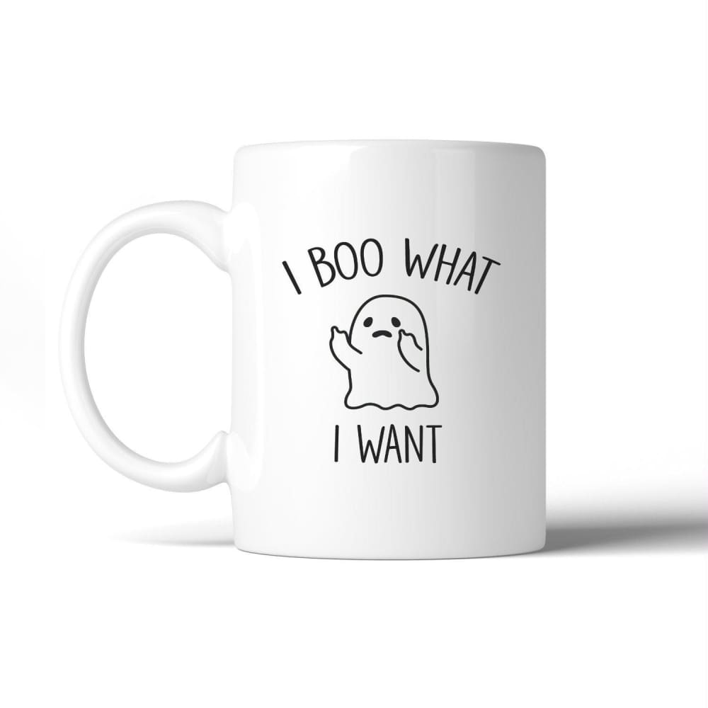 I Boo What I Want Ghost White Mug - Apparel & Accessories
