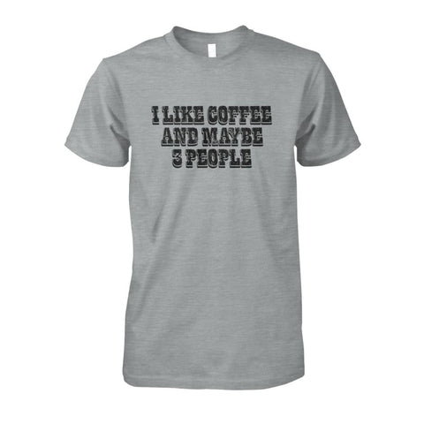 Image of I Like Coffee and Maybe 3 People Tee - Sport Grey / S - Short Sleeves