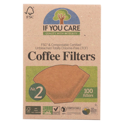 If You Care Coffee Filters - #2 Cone - Case Of 12 - 100 Count - Eco-Friendly Home & Grocery