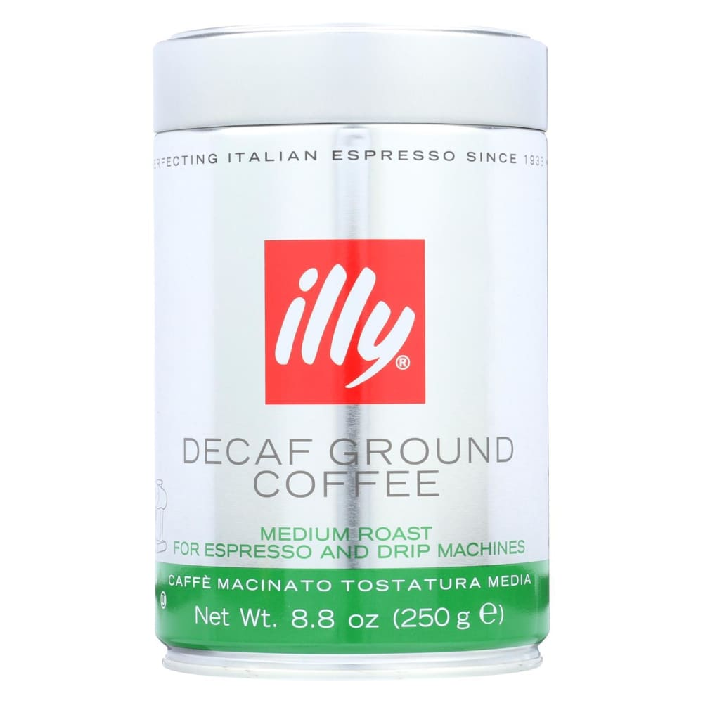 Illy Caffe Coffee Coffee - Espresso And Drip - Ground - Medium Roast - Decaf - 8.8 Oz - Case Of 6 - Eco-Friendly Home & Grocery