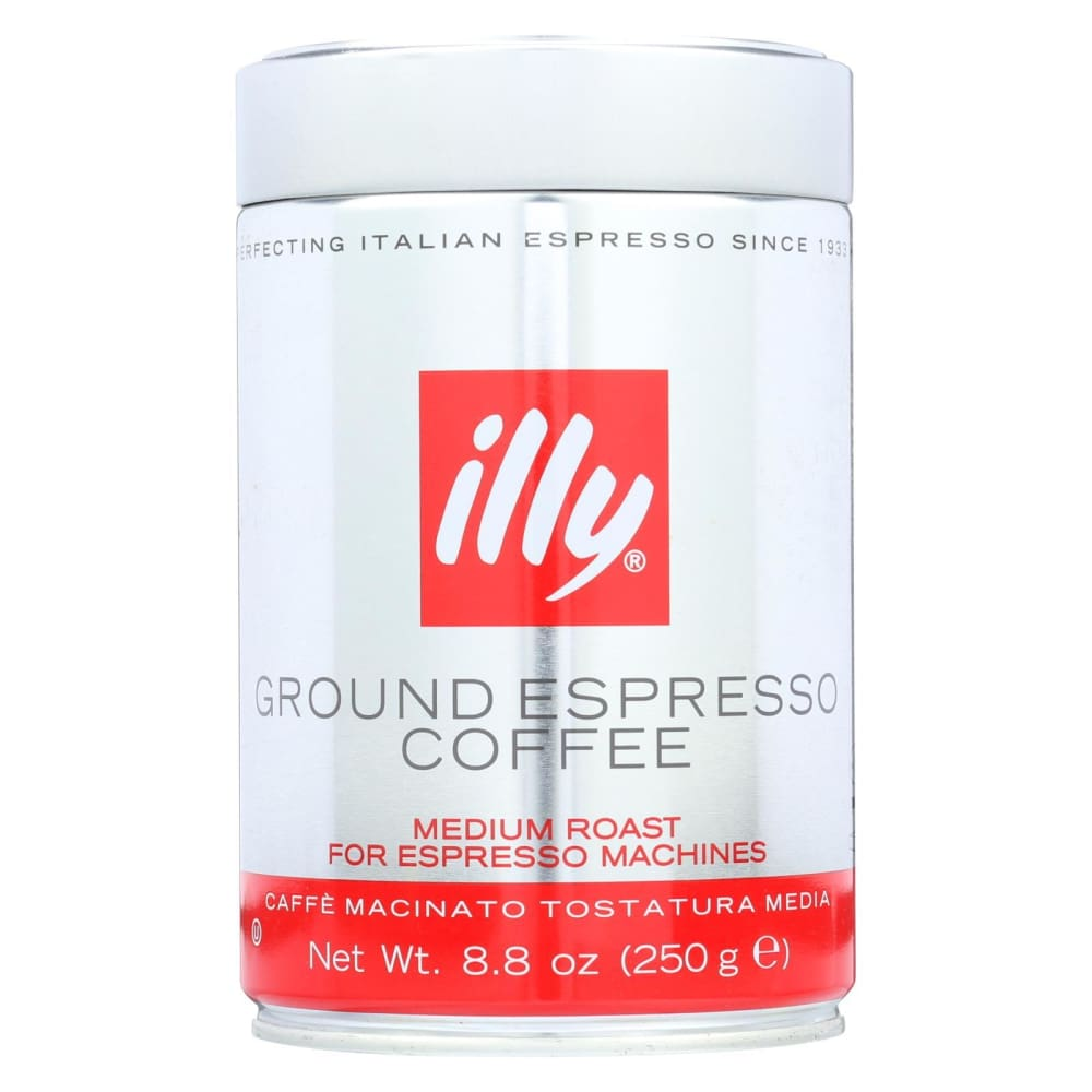 Illy Caffe Coffee Coffee - Espresso - Ground - Medium Roast - 8.8 Oz - Case Of 6 - Eco-Friendly Home & Grocery