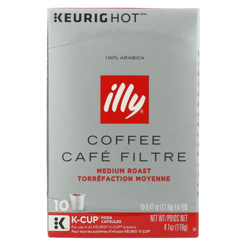 Illy Caffe Coffee - Kcups Red Mediu Roasted - Case Of 6 - 10 Count - Eco-Friendly Home & Grocery