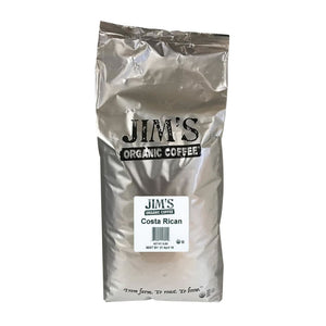 Jims Organic Coffee - Whole Bean - Costa Rican - Bulk - 5 Lb. - Eco-Friendly Home & Grocery
