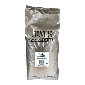 Jims Organic Coffee - Whole Bean - French Roast - Bulk - 5 Lb. - Eco-Friendly Home & Grocery