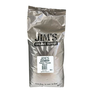Jims Organic Coffee - Whole Bean - Happy House Blend - Bulk - 5 Lb. - Eco-Friendly Home & Grocery