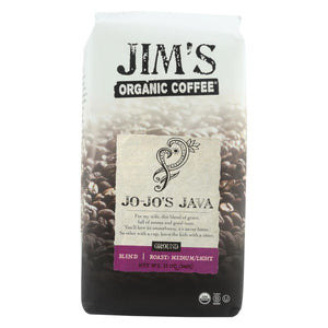 Jims Organic Coffee - Whole Bean - Jo-jos Java - Case Of 6 - 12 Oz. - Eco-Friendly Home & Grocery