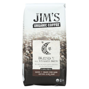 Jims Organic Coffee - Whole Bean - Sweet Love Blend - Case Of 6 - 11 Oz. - Eco-Friendly Home & Grocery