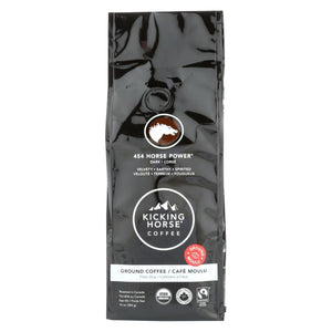 Kicking Horse Coffee - Organic - Ground - 454 Horse Power - Dark Roast - 10 Oz - Case Of 6 - Eco-Friendly Home & Grocery