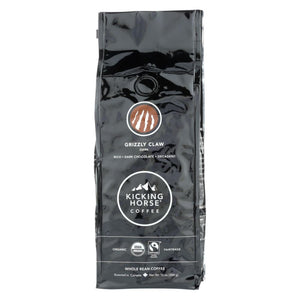 Kicking Horse Coffee - Organic - Whole Bean - Grizzly Claw - Dark Roast - 10 Oz - Case Of 6 - Eco-Friendly Home & Grocery