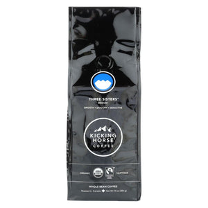Kicking Horse Coffee - Organic - Whole Bean - Three Sisters - Medium Roast - 10 Oz - Case Of 6 - Eco-Friendly Home & Grocery
