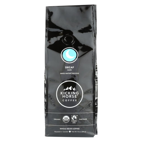 Kicking Horse Coffee - Whole Bean - Decaf - Case Of 6 - 10 Oz. - Eco-Friendly Home & Grocery
