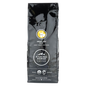 Kicking Horse Coffee - Whole Bean - Smart Ass - Case Of 6 - 10 Oz. - Eco-Friendly Home & Grocery