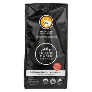 Kicking Horse Ground Coffee - Smart Ass - Case Of 6 - 10 Oz. - Eco-Friendly Home & Grocery