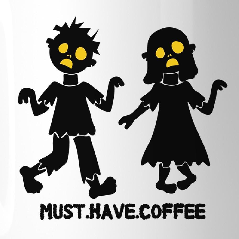 Must Have Coffee Zombies White Mug - Apparel & Accessories